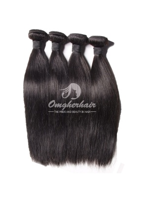 Peruvian Virgin Hair Weaves Silky Straight Natural Color 4pcs Bundles [PS04]