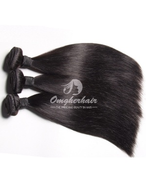 Peruvian Virgin Hair Weaves Silky Straight 3 Bundles Natural Color [PS03]
