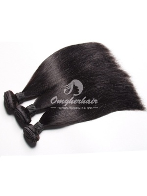Brazilian Virgin Hair Weaves Silky Straight 3pcs Bundles Natural Color [BS03]