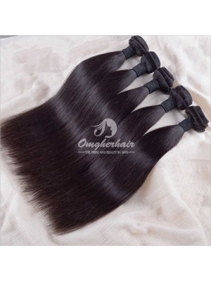 Indian Remy Hair Weave Silky Straight Natural Color [IS01]