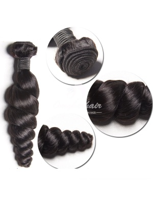 Peruvian Virgin Hair Weave Loose Wave Natural Color 100g [PL01]