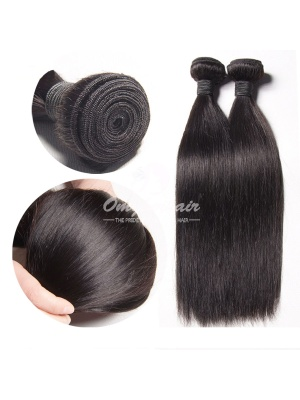Peruvian Virgin Hair Weaves Silky Straight 2 Bundles Natural Color [PS02]