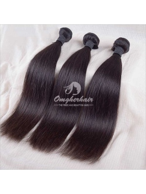 Indian Remy Hair Weaves Silky Straight Natural Color 3pcs Bundles[IS03]