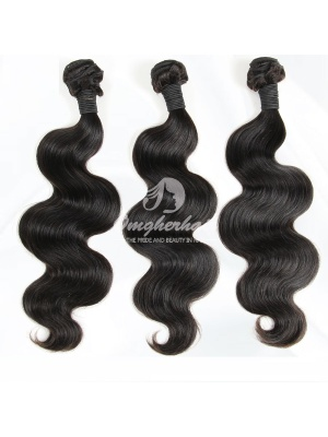 Peruvian Virgin Hair Weaves Body Wave 3pcs Bundles Natural Color [PB03]