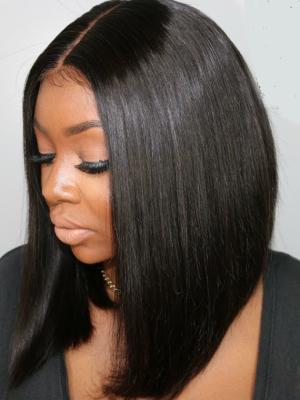 Silky Straight Blunt Cut Bob Lace Wig Indian Remy Hair [Ashley002]