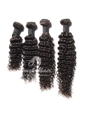 Peruvian Virgin Hair Weaves Deep Wave Natural Color 4pcs Bundles [PD04]