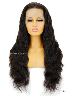 Classy Wavy 6in Deep Parting Lace Frontal Wig Indian Remy Human Hair [ILW62]