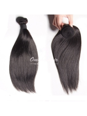 Brazilian Virgin Hair Weaves Silky Straight 2pcs Bundles Natural Color [BS02]