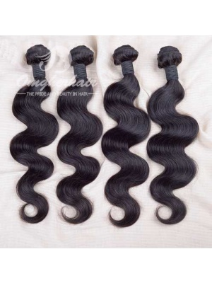 Indian Remy Hair Weaves Body Wave Natural Color 4pcs Bundles [IB04]