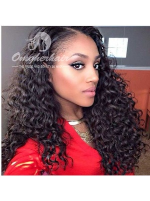 Indian Remy Hair Weaves Deep Wave Natural Color 3pcs Bundles[ID03]