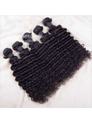 Indian Remy Hair Weave Deep Wave Natural Color [ID01]