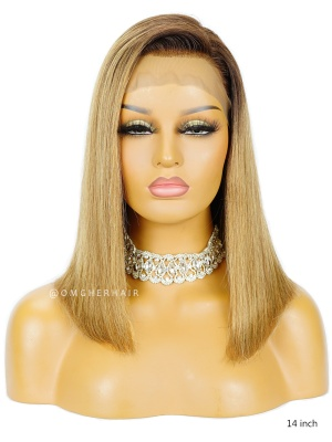 Ombre Color Long Bob Lace Wig Pre-Plucked Hairline [BOB11]