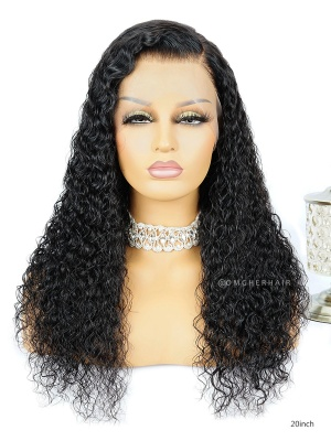 Pre-Plucked Sexy Curly 360 Frontal Wig Indian Remy Hair [CLW11]