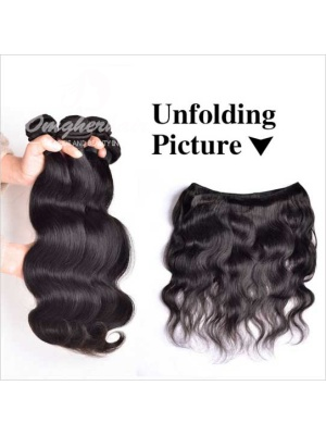 Indian Remy Hair Weave Body Wave Natural Color [IB01]