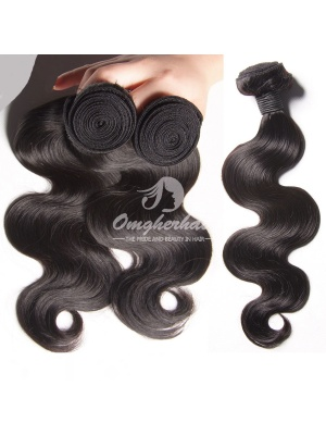 Peruvian Virgin Hair Weaves Body Wave 2pcs Bundles Natural Color [PB02]