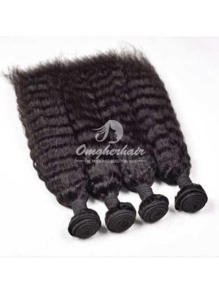 Peruvian Virgin Hair Weaves Kinky Straight 4pcs Bundles Natural Color [PKS04]