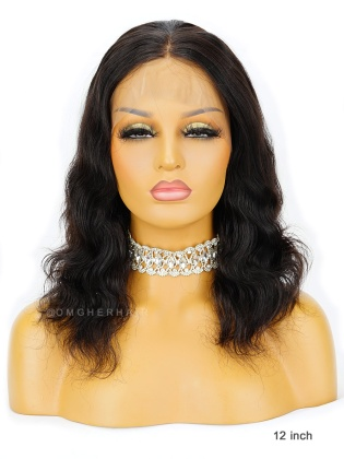 Special Offer-12 Inch Knotless Scalp Silk Base 360 Lace Wig Body Wave[CBW06]