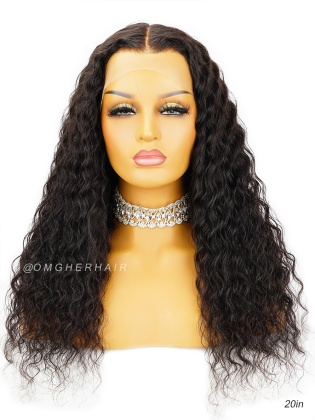 13X6 Deep Wave Invisible HD Swiss Lace Frontal Wig Pre-Plucked & Pre-Bleached [HDW06]