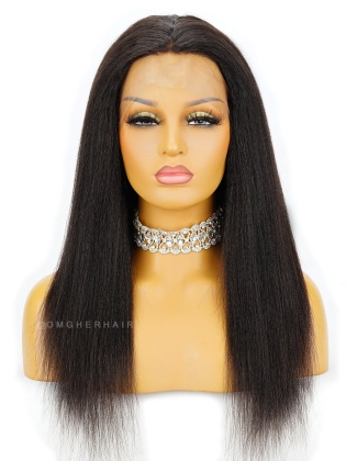 Special Offer-18 Inch & 150% Density Knotless Scalp Silk Base 360 Lace Wig Italian Yaki Blowout Style[CBW05]