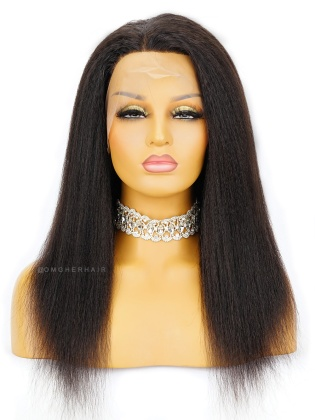 Special Offer- 16 Inch Knotless Scalp Silk Base 360 Lace Wig Italian Yaki Blowout Style [CBW04]