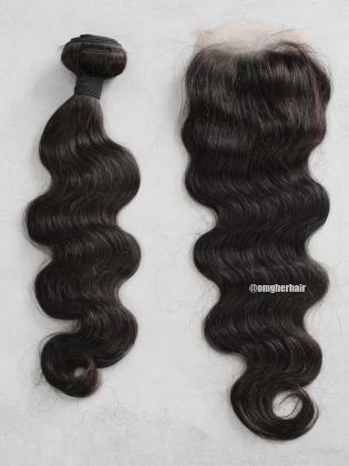 Special Offer-Indian Remy Hair Weaves Body Wave 1pc Bundle With 4x4'' Free Part Closure[CX48]
