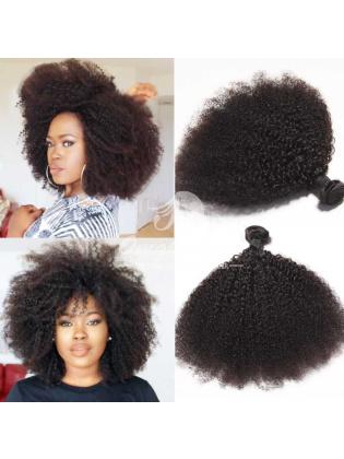 Peruvian Virgin Hair Weaves Afro Kinky Curl 4pcs Bundles Natural Color [PAF04]