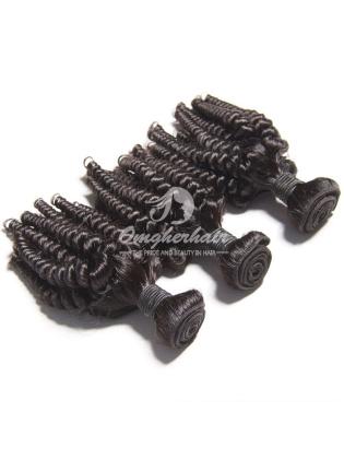 Brazilian Virgin Hair Funmi Hair Weaves Loose Curl Natural Color 4pcs Bundles [BFL04]