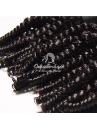 Brazilian Virgin Hair Funmi Hair Weaves Loose Curl 2pcs Bundles Natural Color [BFL02]