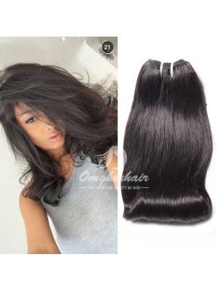Peruvian Virgin Hair Funmi Hair Weaves Aunty Curl 3pcs Bundles Natural Color [PFA03]