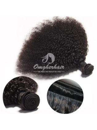 Brazilian Virgin Hair Weaves Afro Kinky Curl 3pcs Bundles Natural Color [BAF03]