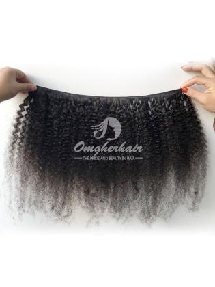 Brazilian Virgin Hair Weave Afro Kinky Curl Natural Color [BAF01]