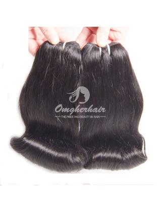 Peruvian Virgin Hair Funmi Hair Weaves Aunty Curl 2pcs Bundles Natural Color [PFA02]