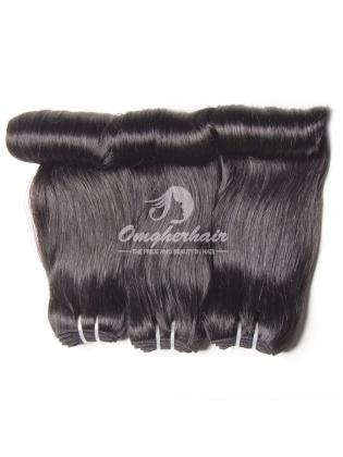 Brazilian Virgin Hair Funmi Hair Weaves Aunty Curl 3pcs Bundles Natural Color [BFA03]