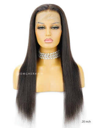 Affordable Light Yaki Glueless Full Lace Wigs Indian Remy Quality Hair [IFW04]