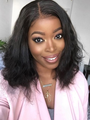 Fashion Gabrielle Union Bob Hairstyle Indian Remy Hair Glueless Lace Wig [Mary001]