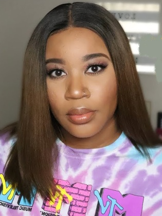 Ombre Light Yaki Bob Style Lace Front Wig Indian Remy Hair [NaturalJoy003]