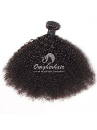Peruvian Virgin Hair Weave Afro Kinky Curl Natural Color [PAF01]