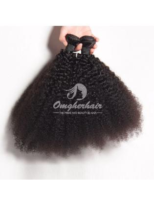 Brazilian Virgin Hair Weaves Afro Kinky Curl 4pcs Bundles Natural Color [BAF04]