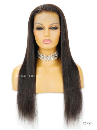 Brazilian Virgin Human Hair Yaki Glueless Full Lace Wigs High Quality [BFW51]