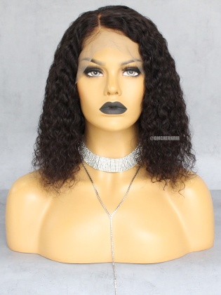 Special Offer-12 Inch & 180% Density Fashion Curly Bob Lace Wigs Indian Remy Hair Good Quality [CX24]