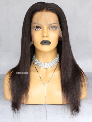 Special Offer-Relaxed Light Yaki Virgin Brazilian Hair 360 Pre-plucked Hairline Lace Wig [CX23]