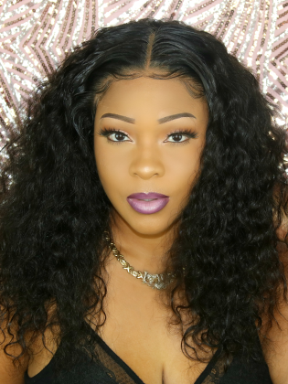 Sexy Loose Curly 360 Lace Wig Indian Remy Human Hair Pre-Plucked Hairline [Dyamond003]