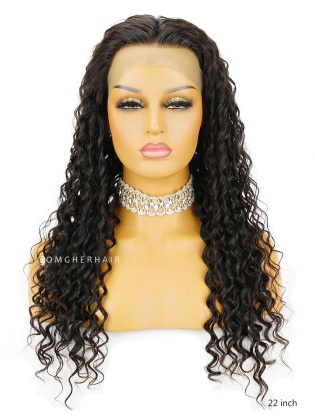 Deep Wave 4.5'' Parting Glueless Lace Front Wigs Unprocessed Indian Remy Human Hair [ILW65]