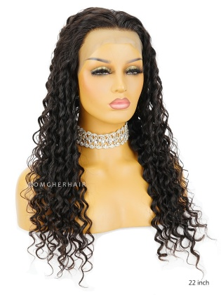 Deep Wave 4.5'' Parting Glueless Lace Front Wigs Virgin Brazilian Hair [BLW45]