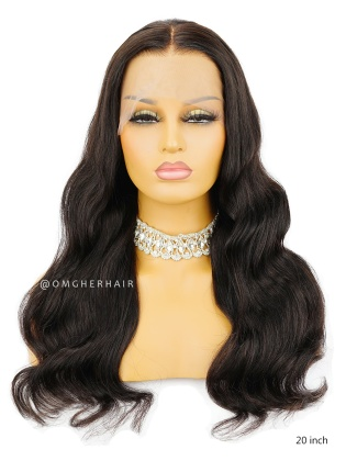 Elegant Loose Wave Pre-Plucked Hairline 360  Lace Wig Indian Remy Hair [CLW05]