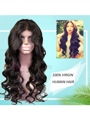 Gorgeous Loose Wave Indian Remy Hair 4.5 inch Glueless Lace Wigs [ILW28]