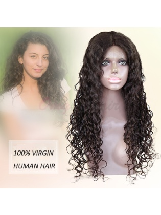Quality Indian Remy Hair Natural Curly Full Lace Wigs For Black Woman [IFW23]