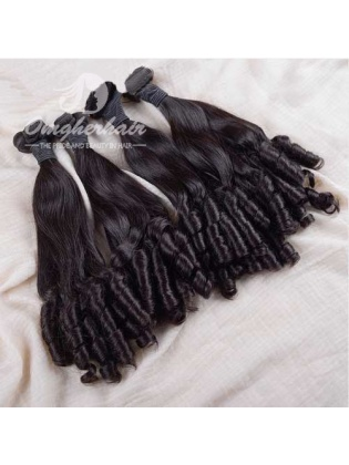 Indian Remy Hair Funmi Hair Weaves 4pcs Bundles Aunty Curl [IFA04]
