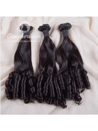 Indian Remy Hair Funmi Hair Weaves 3pcs Bundles Aunty Curl [IFA03]