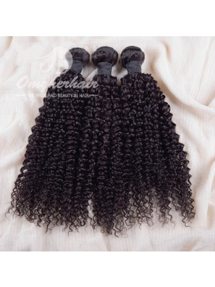 Indian Remy Hair Weaves Natural Color 3pcs Bundles Kinky Curl [IK03]